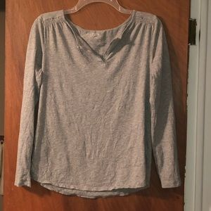 Loft Long Sleeve V-Neck Shirt